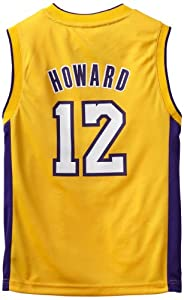 NBA Los Angeles Lakers Dwight Howard Youth 8-20 Replica Home Jersey, Small, Gold