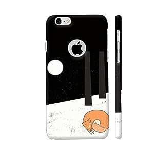 Colorpur Fox Animal Cute Illustration Watercolor Artwork On Apple iPhone 6 / 6s Logo Cut Cover (Designer Mobile Back Case) | Artist: UtART