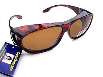 schildpatt polarisierte sonnenbrille berbrille ber normale brille getragen bekleidung. Black Bedroom Furniture Sets. Home Design Ideas