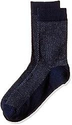 Arrow Men's Plain Knee-high Socks (Pack of 1) (8904135548128_Blue)
