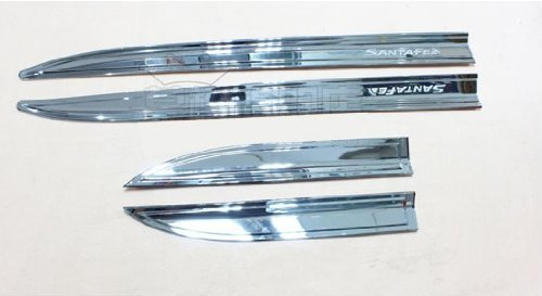 Auto Chrome Body Door Side Molding Trim Stainless Steel 4pcs Fit For 2013 Hyundai Santa Fe IX45