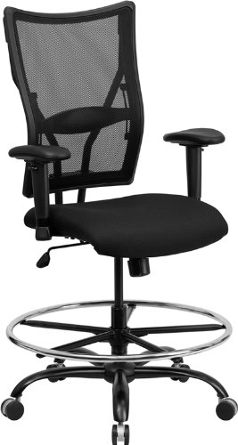 Flash Furniture Hercules Series Capacity Big And Tall Black Mesh Drafting Sto