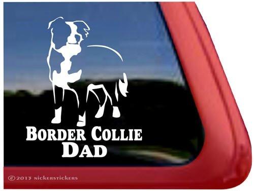 Border Collie Dad ~ Border Collie Dog Vinyl Window Decal Window Decal Sticker front-323803