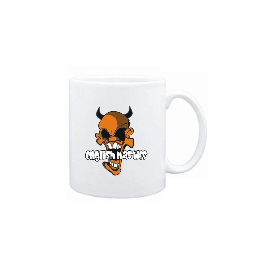 Mug White  English Mastiff   Devil  Dogs