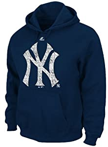 New York Yankees Majestic Youth Hit & Run Navy Hooded Sweatshirt by Majestic
