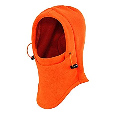 Ezyoutdoor Thermal Warm Fleece Full Face Mask Balaclava CS Mask Head and Neck Cover Warmer Windproof Hooded Scraf Hat for Winter Outdoor Sports Cycling Motorcycle Bike Ski Snowboard Fishing