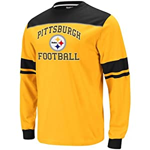 Reebok Pittsburgh Steelers Big & Tall Power Sweep Long Sleeve T-Shirt by Reebok