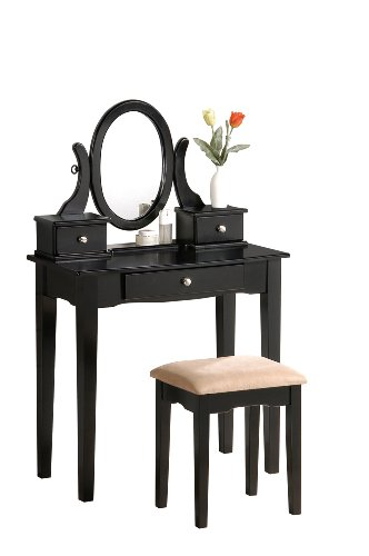 Review Of Bobkona Abana Vanity Set with Stool, Black