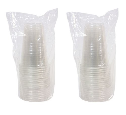 Disposable 16 Oz. Soft Clear Plastic Cups, 36 Count