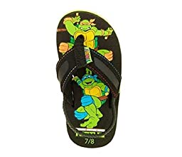 Teenage Mutant Ninja Turtles Toddler 7-12 Boy\'s Canvas Flip Flop Sandals (5/6)