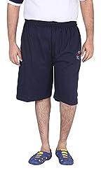 Xmex Men's Cotton Shorts (Sj-004Navy-4XL, Navy Blue, XXXXL)
