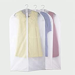 3Pcs Garment Suit Dress Jacket Clothes Coat Dustproof Cover Protector Travel Bag DX