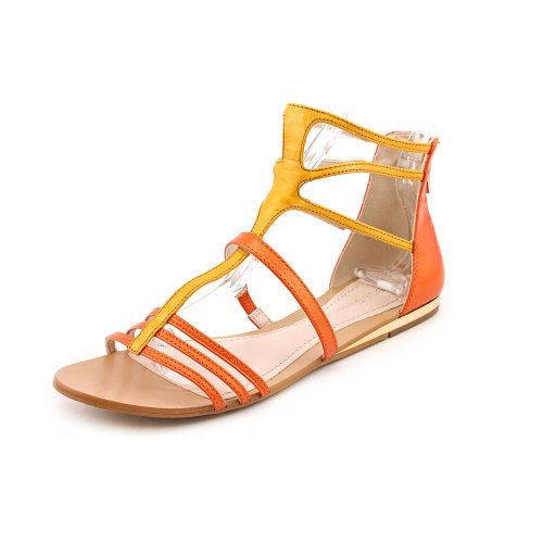 Bcbgeneration Rumbah Womens Size 8 Orange Leather Gladiator Sandals Shoes Eu 38