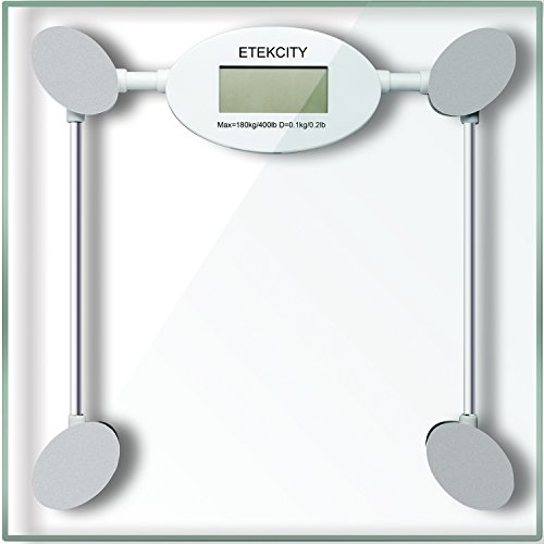 Etekcity Digital Body Weight Bathroom Scale, 400lb/180kg, White/Gray