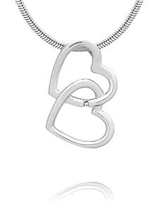 "Rafaela Donata Pendentif ""Coeur' Argent Sterling 925 Diamant"