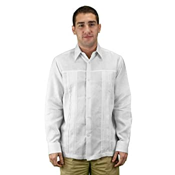 Mens shirt for wedding pure linen, white.