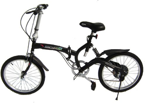 Black Folding Bike with free carrying bag