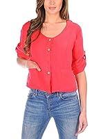 100% lino Camisa Mujer Denise (Coral)