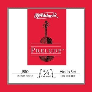D'Addario Prelude Violin String Set, 4/4 Scale, Medium Tension