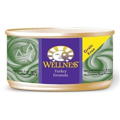Wellpet Wellness Turkey Canned Cat Food 3oz cans - case of 2