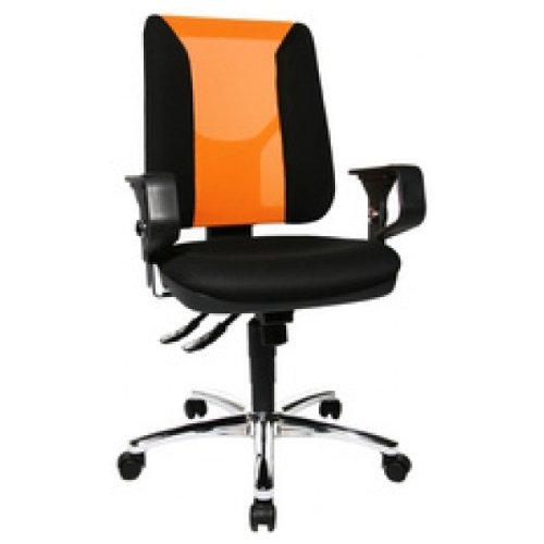Topstar-Brodrehstuhl-Artwork-20-SY-schwarz-orange