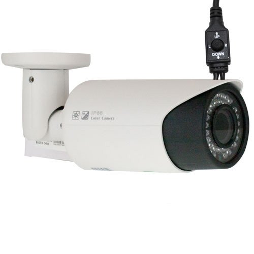 """New Top Of Line 1000 Tv Lines 1/3"""" Color Sony Cmos Outdoor / Indoor Camera 2.8~12Mm Manual Varifocal Lens, 42Pcs Infrared Led, 115 Feet Ir Distance. Metal Vandal Proof & Water Proof"""