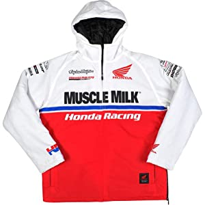 Honda Motorcycle Officially Licensed TLD Team Men's Sportswear Jacket - White / Large