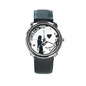 Nightmare Before Christmas Love Round Metal Wrist Watch for Unisex men women Fashion Hot Gift NEW
