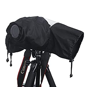 Professional Waterproof DSLR Camera Rain Cover (Japanese Taffeta Material), Great for Rain Dirt Sand Snow Protection