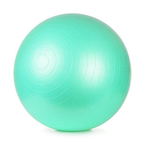 AVIA Fitness Ball for Total Body Conditioning, Including Hand Pump 65 CM - Mint (Available in more Colors)