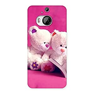 Delighted Twin Teddy Multicolor Back Case Cover for HTC One M9 Plus