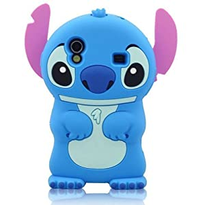 Global Blue 3D Stitch Soft Silicone Case Cover for Samsung Galaxy Ace S5830 S5830i i579 NEW