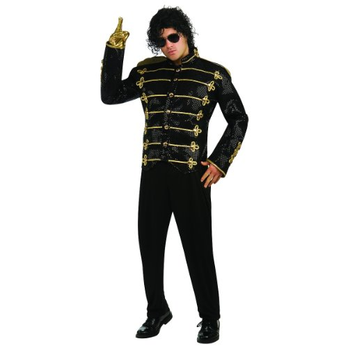 Michael Jackson Deluxe Black Military Jacket Costume - Large - Chest Size 42-44