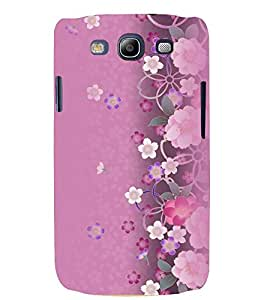 Printvisa Pink Floral Pattern Back Case Cover for Samsung Galaxy S3::Samsung Galaxy S3 i9300