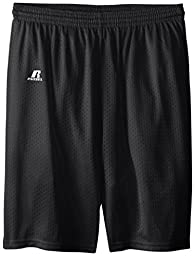 Russell Athletic Big Boys\' Youth Mesh Short, Black, Large