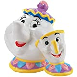 Westland Giftware Mrs. Potts and Chip Magnetic Ceramic Salt and Pepper Shaker Set, 4.25-Inch