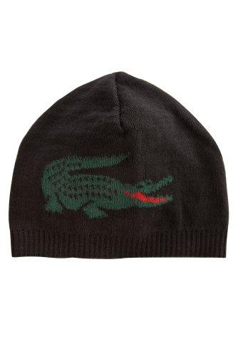 Men's Intarsia Croc Logo Beanie