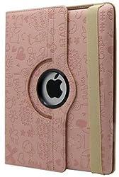 KolorFish iFun Cartoon Happy Funky Print 360 Degree Rotation Flip Book Leather Case Cover for Apple iPad Air