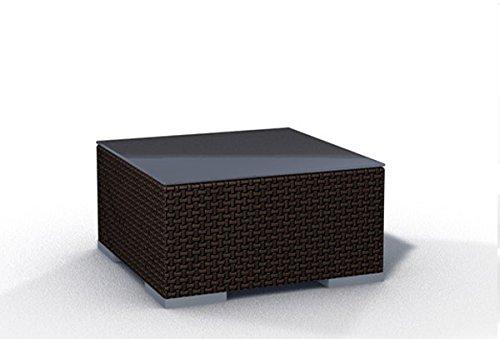 Gartenmöbel Rattan Tisch Espace Tisch B 75x75cm Polyrattan, dunkelbraun bestellen