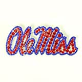 Ole Miss Crystal Pin Red