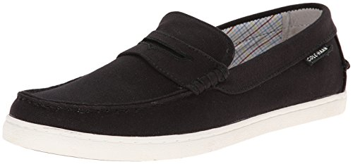 Cole Haan Men's Pinch Canvas Weekender Loafer, Black/White, 10 M US (Cole Haan Canvas compare prices)