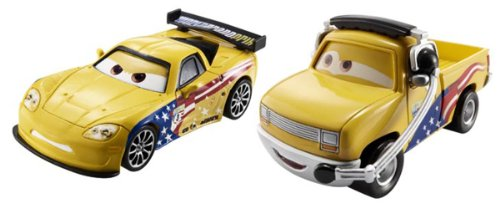 Disney/Pixar Cars Collector Die-Cast Jeff Gorvette and John Lassetire Vehicle, 2-Pack - 1