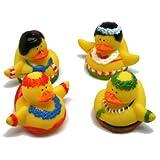 12 Hula Dancer Rubber Duckies