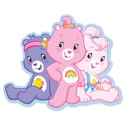 Care Bears Three Bears Together Vynil Car Sticker Decal - Select Size front-798092