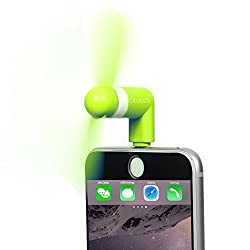 Stouch Mini Portable Dock Cool Cooler Rotating Fan for 8 pin lightning iPhone 6 plus 5s 5 iPad mini air - Green