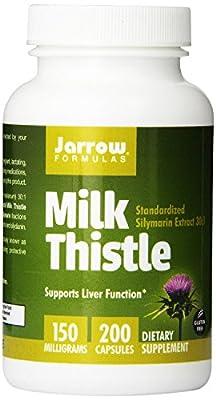 Jarrow Formulas Milk New Value Pack Size Thistle Standardized Silymarin Extract 30:1 Ratio, 150 mg per Capsule 800 Gelatin Capsules