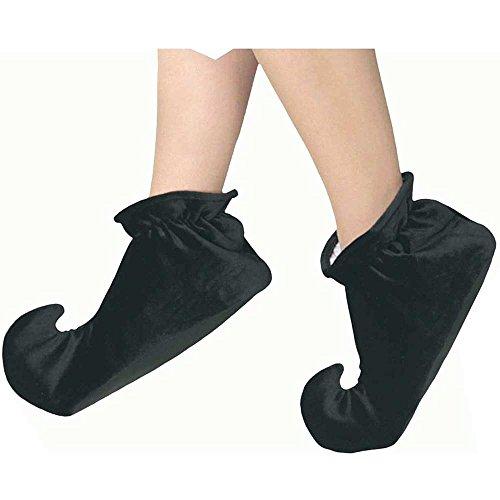 Black Satin Jester Shoes (Jester Shoes)