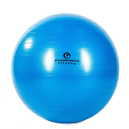 65 cm anti burst exercise balance ball extra thick for fitness yoga or just at home as an - Replacing office chair with exercise ball ...
