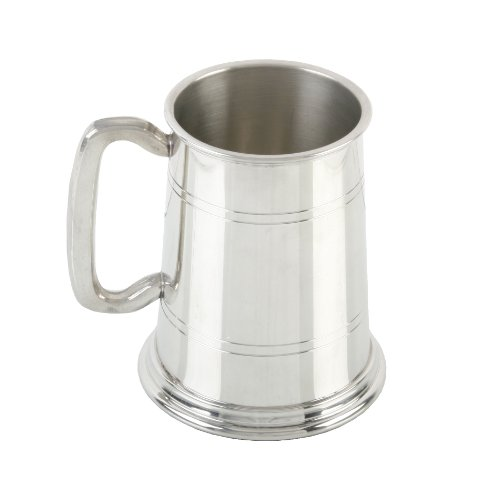 Personalised Milano 1 Pint Pewter Tankard With 4 Lines FREE ENGRAVING
