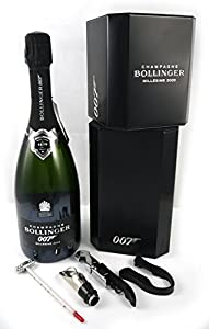 Bollinger Spectre Limited Edition 007 Champagne 2009 75cl with four wine accessories and chill box